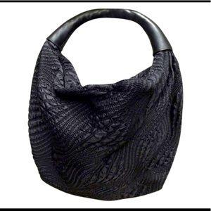 Cole Haan Aria Soft nylon hobo bag black